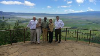 Our Client at Ngorongoro Crater View Point