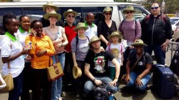 Receiving Clients at JKIA, Kenya