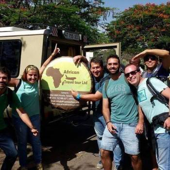 Our guest are  happy and  ready for Safari