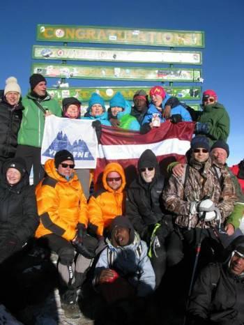 AAA Staff with clients at Mt Kilimanjaro Summit