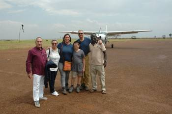 Happy clients after a wildlife safari in MFNP