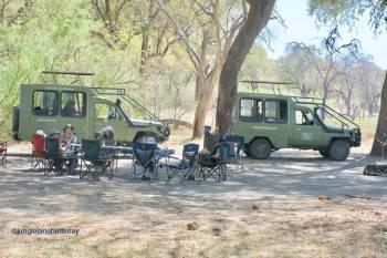 Ulinda Safaris Vehicles in exclusive site at KHWAI