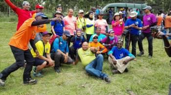 Celebration after trekking mount Kilimanjaro