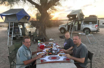 Camping with Tourists in Mabuasehube, Botswana