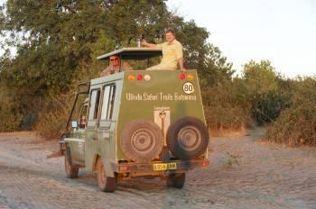 Stopping for a sundowner along the Chobe River
