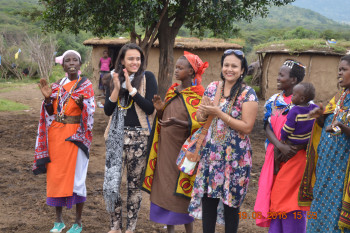 A visit to the maasai village with our clients.