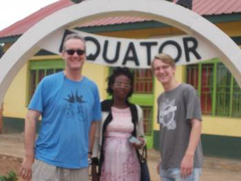 Director Kaara Jovia with clients at the Equator