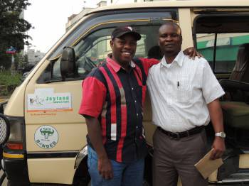 Gideon The Director with our Driver Jonathan