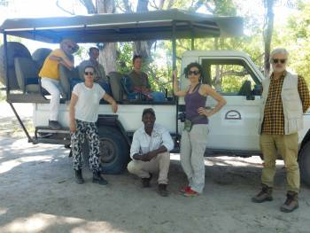 One of our private tour safari in khwai,Botswana.