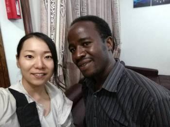 Managing Director Gabriel Elibariki & Fujita Yumi
