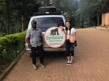our esteemed client and her safari guide on tour