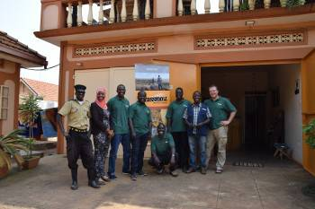 The Grassrootz Adventures Team in Kampala
