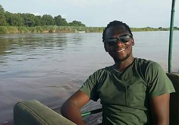 Company Owner, Benson, enjoying a cruise in Katavi