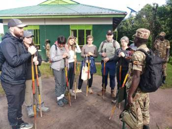 Clients at Bwindi Forest for Gorilla Tracking