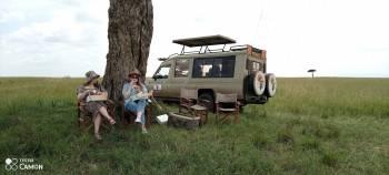 Shanjoy Tours client in Masai Mara