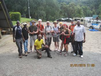 Our Happy clients at Machame Route.