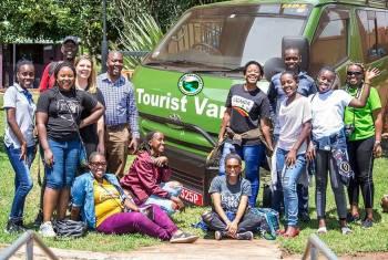 Company staff on a trip