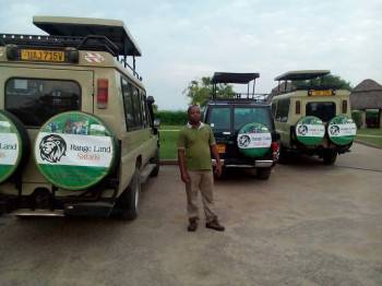 Our Safari Manager Ronald and Safari Cars Fleet