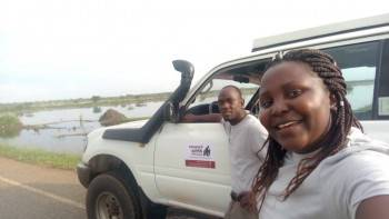 Our team on safari to Murchison falls N.Park
