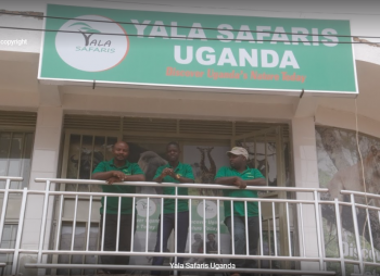 Some of the staff at Yala Safaris Uganda Office